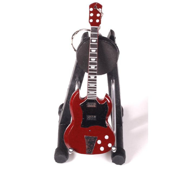 Miniature Guitar Keychain