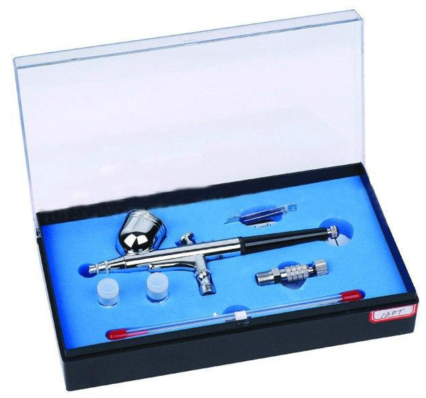 Spray Gun Portable Needles & Nozzles Dual Action Airbrush Air Compressor Kit Craft CakePaint Art Pneumatic Power Tools