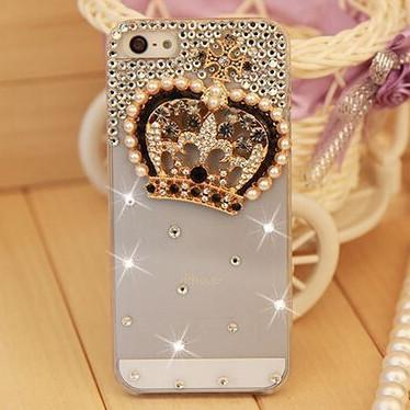 Rhinestone Case Cover For Iphone Crown
