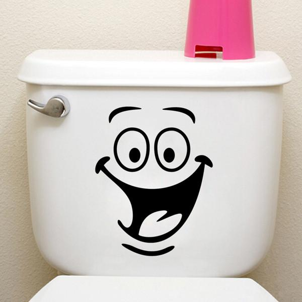 Waterproof Big Mouth Toilet Stickers Wall Decorations