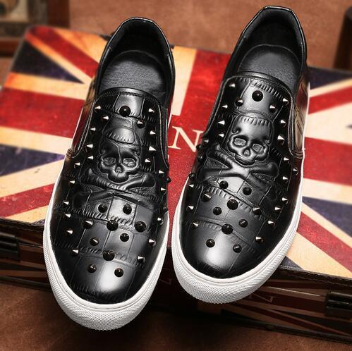 Casual Boat Skull Shoes