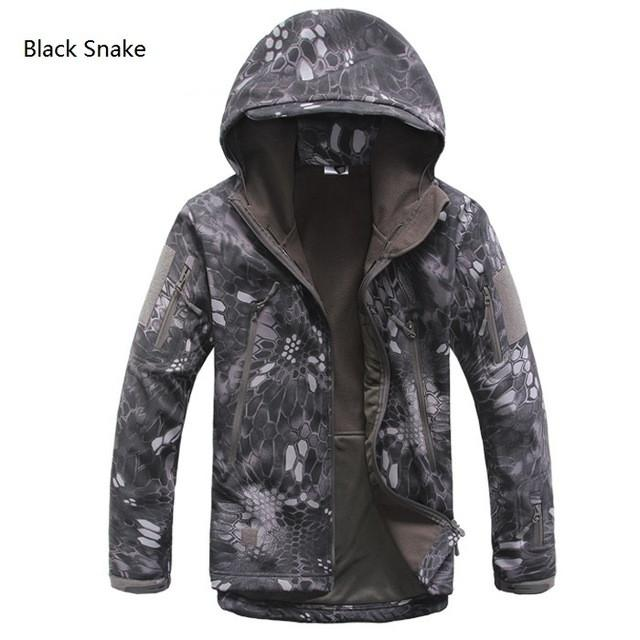 2017 Waterproof Windproof Warm Camouflage Coat , Color (Black Snake)