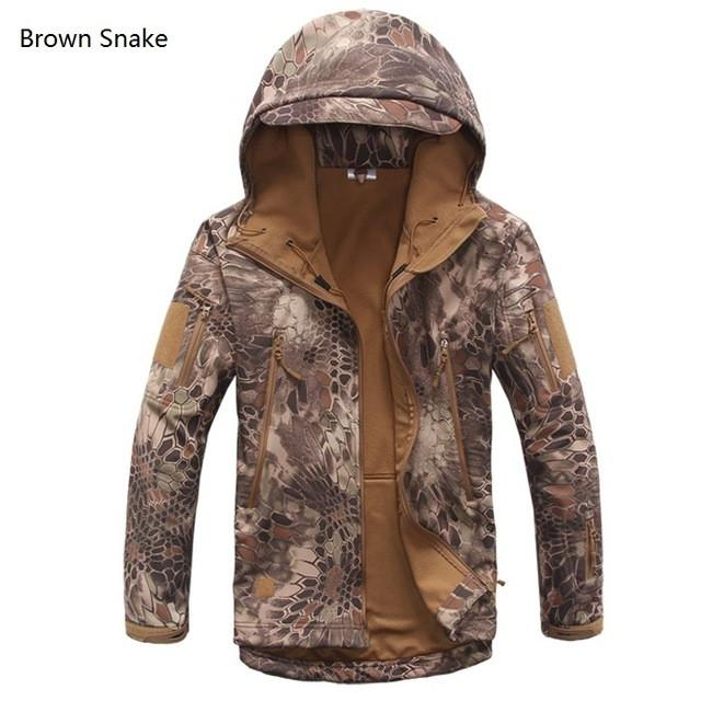 2017 Waterproof Windproof Warm Camouflage Coat (Brown Snake)
