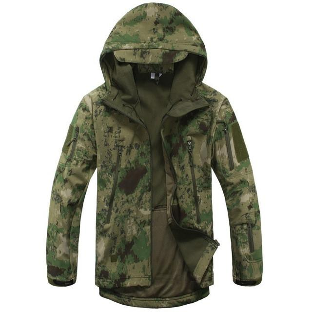 2017 Waterproof Windproof Warm Camouflage Coat , Color (Green Camo)
