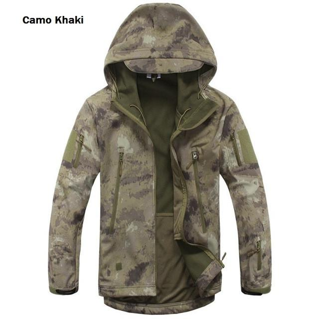 2017 Waterproof Windproof Warm Camouflage Coat , Color (Khaki Camo)