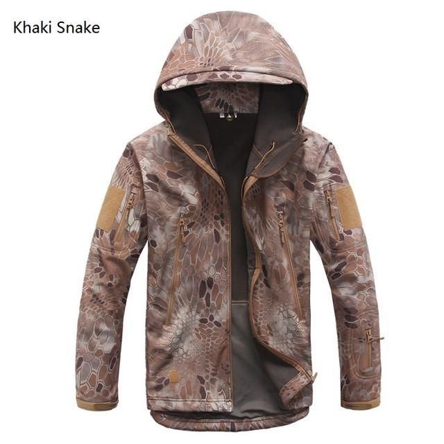 2017 Waterproof Windproof Warm Camouflage Coat (Khaki Snake)