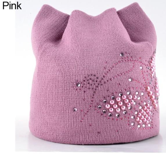 Winter Cat Beanie Hat Ladies Knit Hats