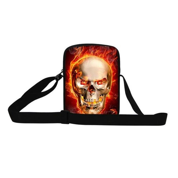 Unique skull head men messenger