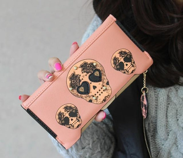 Personality Punk Skeletons Wallets