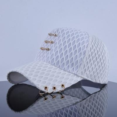 Diamond-shaped Grid Hip Hop Cap