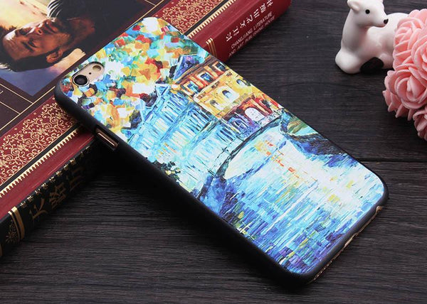 3D Painting Cell Phone Case For iPhone 7 Plus Case for iPhone SE 4 4s 5 5s 6 6s Plus Case Van Gogh Starry Night Phone Case Fone