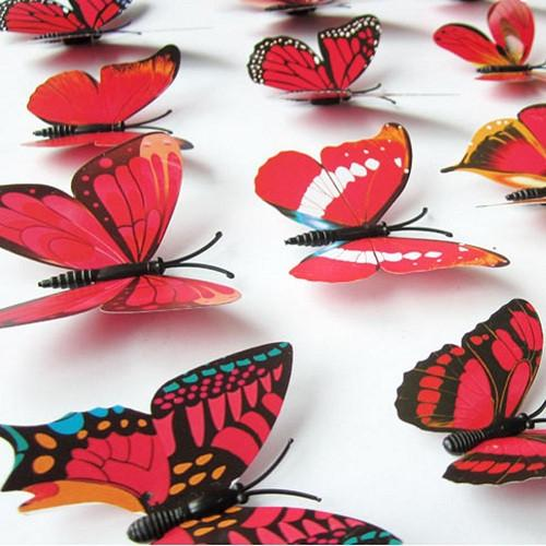 12pcs 3D Butterflies DIY Wall Decor