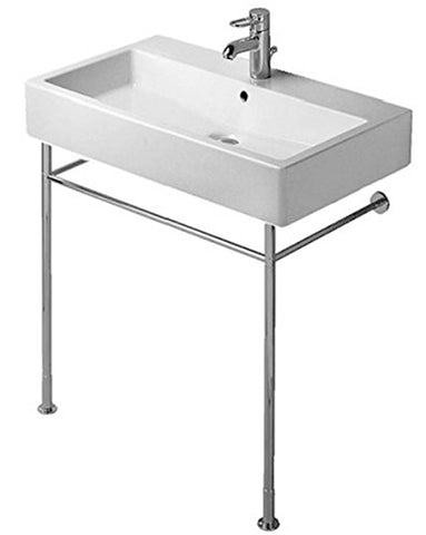 "Duravit Vero Series Metal Console Legs for Washbasin # 045470, 23507, +2"" Height Adjustable, Chrome finish, 003075"
