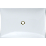 "Polaris 23 1/2"" Porcelain Rectangular Bathroom Vessel Sink - White P063VW"