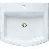 "Polaris 22"" Porcelain Rectangular Bathroom Vessel Sink - White P003VW"