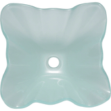 "Polaris 17"" Frosted Glass Square Bathroom Vessel Sink - P117"