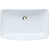 "Polaris 23 1/2"" Porcelain Rectangular Bathroom Vessel Sink - White P053VW"