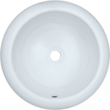 "Polaris 17"" Porcelain Round Bathroom Vessel Sink - White P2082VW"