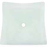 "Polaris 18 1/4"" Frosted Glass Square Bathroom Vessel Sink - P227"