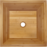 "Polaris 16 1/8"" Bamboo Square Bathroom Vessel Sink P199"