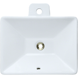 "Polaris 18 3/4"" Porcelain Rectangular Bathroom Vessel Sink - White P092VW"