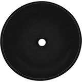 "Polaris 16 1/2"" Black Granite Round Bathroom Vessel Sink P058BL"
