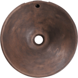 "Bronze Vessel Sink, 15 3/4"", Round, Antique Patina, Polaris, P559 - Showroom Sinks"