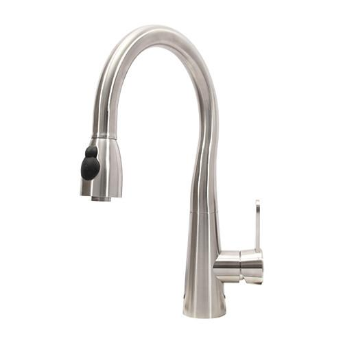 "Boann Sophia 16.75"" High Kitchen Pull Out Faucet Stainless Steel BNYKF-C01S - Showroom Sinks"