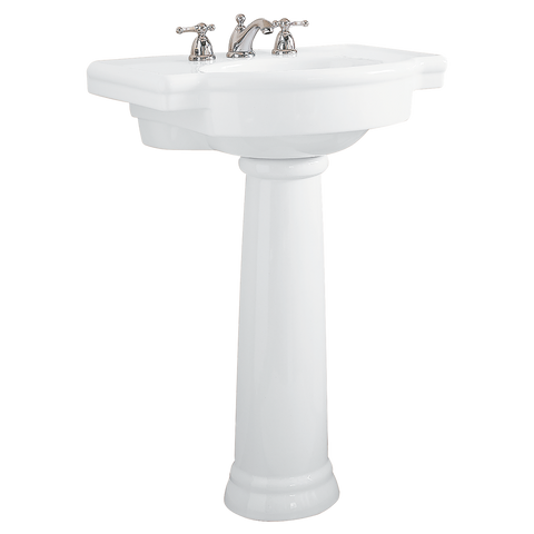 "Bathroom Pedestal Sink, 27"", Retrospect, American Standard, 0282.800.020 - Showroom Sinks"