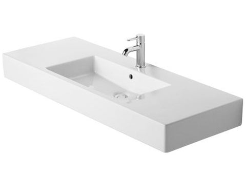 "Vero Series 49-1/4"" with Overflow, Wall Mounted Bathroom Sink, Duravit, 032912"