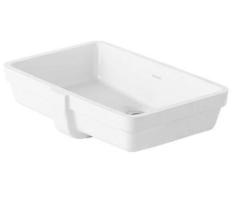 "Vero Vanity basin 19-1/8"" Bathroom Undermount Sink with Overflow, Ceramic White, Duravit, 033048"