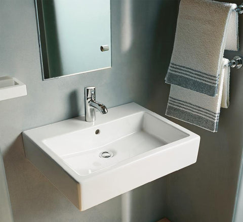Vero Washbasin Ground 23 5 8 Quot With Overflow And Faucet