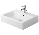 "Vero Furniture Washbasin 23-5/8"" Bathroom Vessel Sinks with faucet deck, Wall mounted, Duravit, 045460"