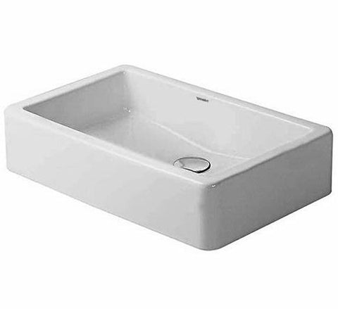 "Vero series Washbowl 23-5/8"" No Tap Punched Hole and Overflow, Ground Bathroom Vessels Sink, Duravit, 045560"