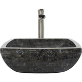 "Polaris 15 3/4"" Butterfly Blue Granite Square Bathroom Vessel Sink P763"