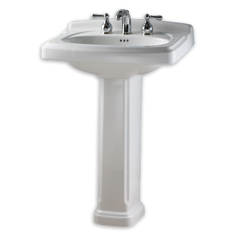 "Bathroom Pedestal Sink, 24"", Portsmouth, American Standard, 0555.801 - Showroom Sinks"