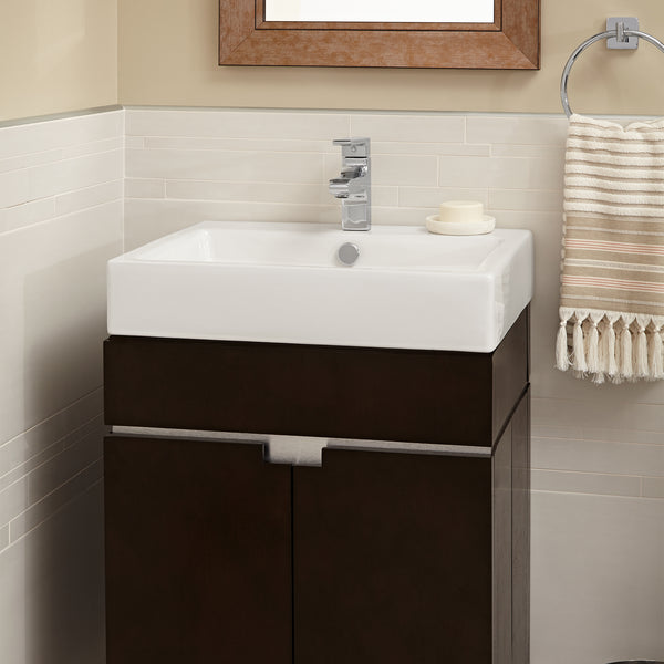 American Standard Studio Above Counter Rectangular Bathroom Sink, White, 0621.001.020 - Showroom Sinks