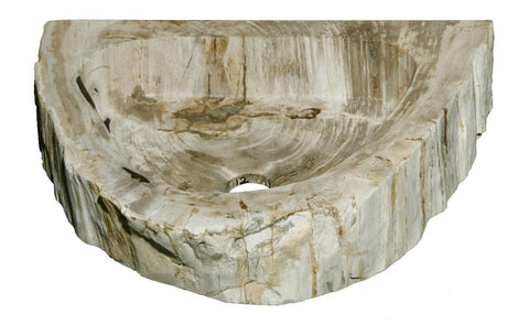 "Bathroom Vessel Sink, 18.5"" Petrified Wood, Allstone Group, PEWD-#1-12 - Showroom Sinks"