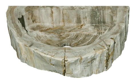 "Bathroom Vessel Sink, 18.5"" Petrified Wood, Allstone Group, PEWD-#1-13 - Showroom Sinks"