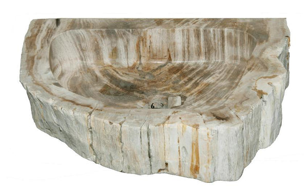 "Bathroom Vessel Sink, 18"" Petrified Wood, Allstone Group, PEWD-#1-6 - Showroom Sinks"
