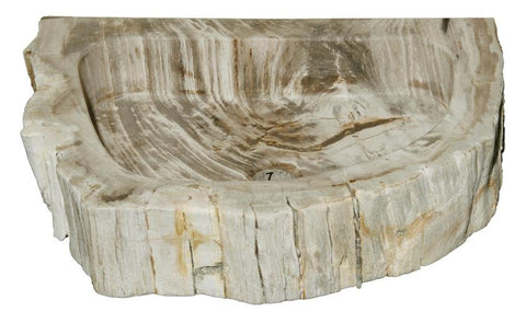 "Bathroom Vessel Sink, 18"" Petrified Wood, Allstone Group, PEWD-#1-7 - Showroom Sinks"