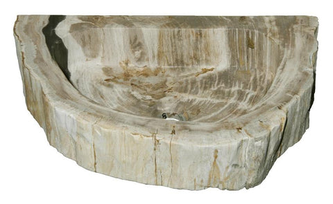 "Bathroom Vessel Sink, 18.5"" Petrified Wood, Allstone Group, PEWD-#1-8 - Showroom Sinks"