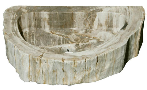 "Bathroom Vessel Sink, 18.5"" Petrified Wood, Allstone Group, PEWD-#1-9 - Showroom Sinks"