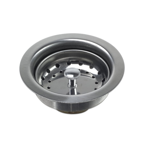 "Luxier 3 1/2"" Sink Basket Strainer, Stainless Steel - KS01"