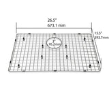 Luxier Sink Bottom Grid fits A001 Stainless Steel Farmhouse Sinks - KSG-A03