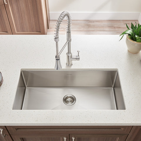 American Standard Pekoe 23x18 Stainless Steel Kitchen Sink with Drain and Bottom Grid