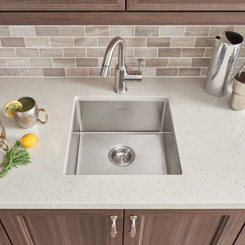 American Standard Pekoe 17x17 Stainless Steel Undermount Kitchen Sink, 18SB.8171700.075 - Showroom Sinks