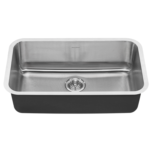 American Standard Portsmouth 30x18 Single Bowl Stainless Steel Kitchen Sink, 18SB.9301800S.075