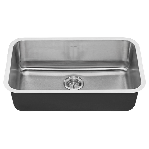 American Standard Portsmouth 30x18 Single Bowl Stainless Steel Kitchen Sink, 18SB.9301800S.075 - Showroom Sinks
