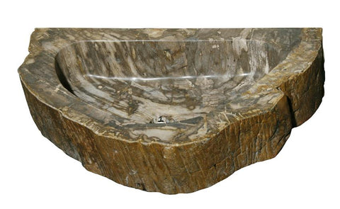 "Bathroom Vessel Sink, 20"" Petrified Wood, Allstone Group, PEWD-#2-1 - Showroom Sinks"